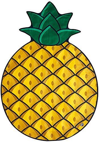 Details about  /3D Pineapple Pattern ZHU552 Summer Plush Fleece Blanket Picnic Beach Towel show original title