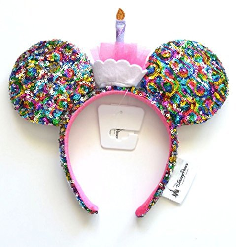Mickey Mouse Ears Birthday Rainbow Sequin Disney Parks Authentic Merchandise -