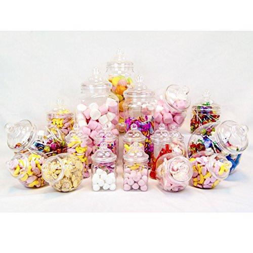 Plastic Jar Party Pack - 19 Assorted Jars (Plastic Sweet Jar)
