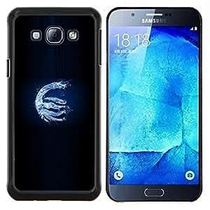 KLONGSHOP // Cubierta de piel con cierre a presión Shell trasero duro de goma Protección Caso - Dragón de agua - Samsung Galaxy A8 A8000 //