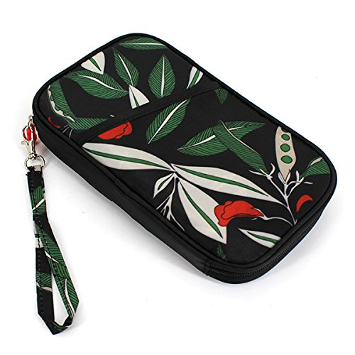 Wallet with Purse Leaves Clutch Hand Phone Sun Card Kea Women Holder Zipper Strap Cell Travel Long Purse qxUvga7UwO