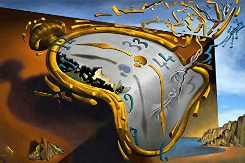 None brand Salvador Dali La persistencia de la Memoria Pinturas en Lienzo en la Pared Carteles artisticos e Impresiones Imagenes artisticas Famosas Decoracion del hogar Sin marco-60x90cm