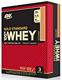 Optimum Nutrition Gold Standard 100% Whey Protein Powder Travel Size, Salted Caramel, 3 Count