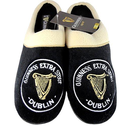 Guinness , Herren Hausschuhe schwarz schwarz