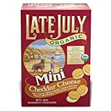 Late Organic Mini Bite Size Sandwich Crackers Cheddar Cheese 5 OZ (Pack of 4)
