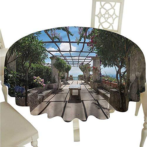 ScottDecor Picnic Cloth Italian,Villa Rufolo Ravello Amalfi Outdoor Picnics Round Tablecloth D 70