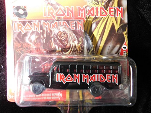 Iron Maiden 1956 School Bus with Miniature Record Album 1:64 scale die-cast by Johnny Lightning