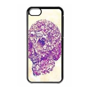 ALICASE Diy Hard Shell Case Skull For Iphone 5C [Pattern-1]