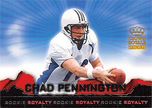 Chad Pennington football card (Marshall Thundering Herd) 2000 Pacific Crown Royale Rookie Royalty #15 ()