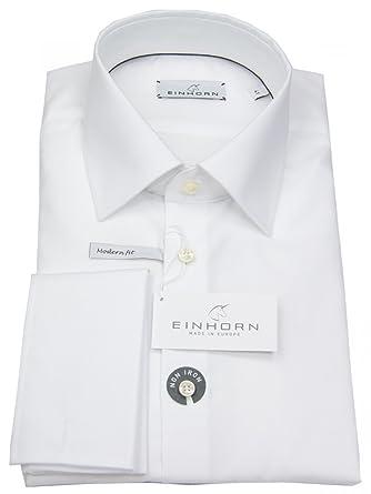 buy popular 9903c ad06f Einhorn Herren Hemd Modern Fit Jamie Umschlagmanschette Weiß ...
