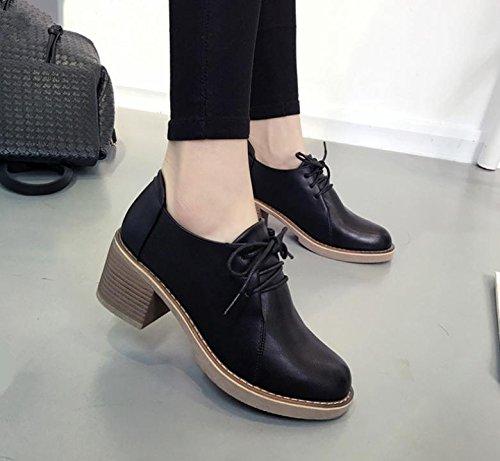 aumento de Primavera 2017 nueva de las mujeres Zapatos de última moda salvaje dentro de los pequeños zapatos de moda Black