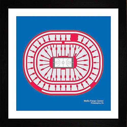 (Philadelphia 76ers Wells Fargo Center Arena Framed Art Gift)