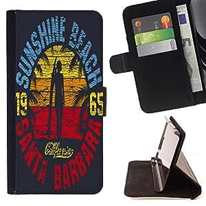 King Case - FOR Samsung Galaxy S6 - Because I love you - Prima caja de la PU billetera de cuero con ranuras para tarjetas, efectivo Compartimiento desmontable y correa para la mu?eca