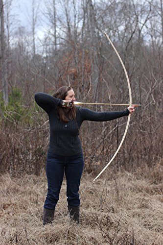 72″ Handcrafted Traditional English Longbow made of hickory 40bs @ 28″