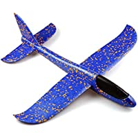 Kids Toys, Funny DIY Foam Throwing Glider Inertia Aircraft Toy Hand Launch Airplane Model Birthday Gifts School Prizes…