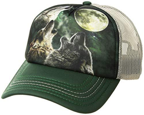 The Mountain Men's Three Wolf Moon Foam Trucker Hat, Black, Adjustable -