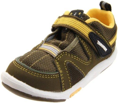 Tsukihoshi BABY03 Maru Sneaker (Toddler),Green/Yellow,4.5 M US Toddler