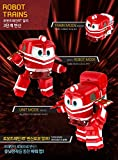 Kay Alf Duck Selly 4 kinds of friends, Korean Animation Robot Train Transformer, Train Robot character, Toy Kids Children