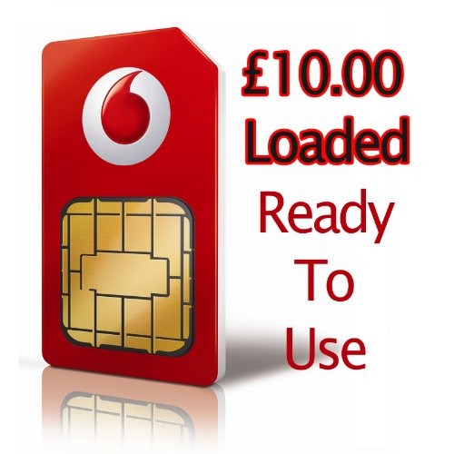 Uk Vodafone Prepaid Sim Card W  Gbp  10 00 Loaded   Shipping From Usa