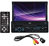 BOSS Audio BVB9967RC Car DVD Player – Bluetooth Audio and Hands-Free Calling, 7 Inch LCD Touchscreen Monitor, MP3/CD/DVD/USB/SD Ports, AUX Input, AM/FM Radio Receiver, Rearview Backup Camera Included