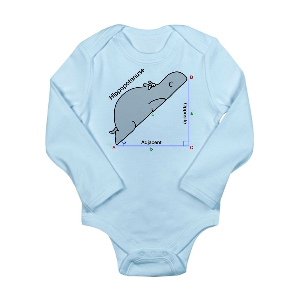 4c53ebb1e0 Amazon.com: CafePress Hippopotenuse Body Suit Baby Bodysuit: Clothing