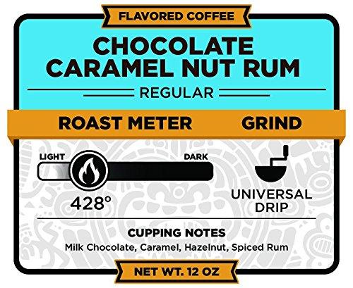 Christopher Bean Coffee Ground Coffee, Chocolate Caramel Nut Rum, 12 ounce (Ground Coffee Caramel Nut)