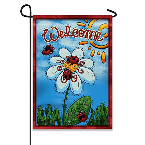 (Welcome Summer Ladybugs and Flower 12.5
