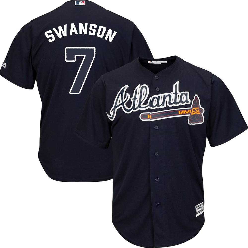 size 40 3660c c2d94 Amazon.com : VF Dansby Swanson Atlanta Braves #7 Cool Base ...