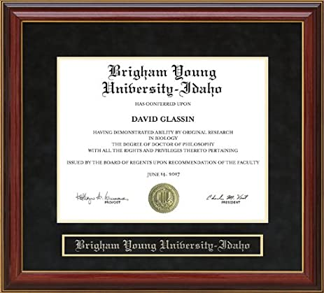 Amazon Com Brigham Young University Idaho Byu Idaho Diploma