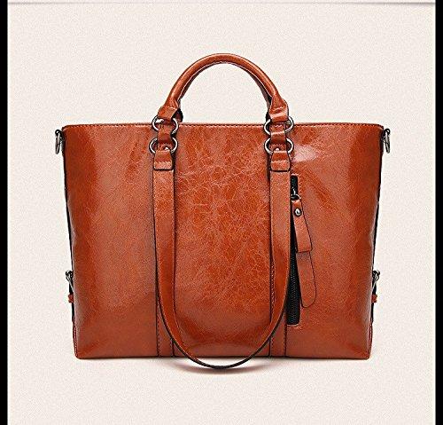 LANDONA El nuevo bolso femenino es la bolsa caliente, Europa Y América solo hombro, Cruz del bolso, bolso grande, elegante azul. Deep Brown Hand Bag