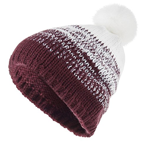Ascent Beanie - Ascent Beanie Holloway Sportswear OS Maroon/White