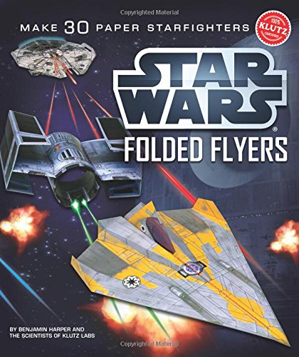 Klutz Star Wars Folded Flyers: Make 30 Paper Starfighters Craft Kit - Flyer Airplane