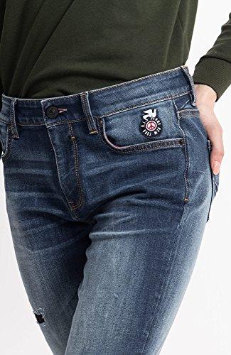 Lorraine Blue Wash Medium Jeans premium Blu 9383 Skinny Donna His fdU0f