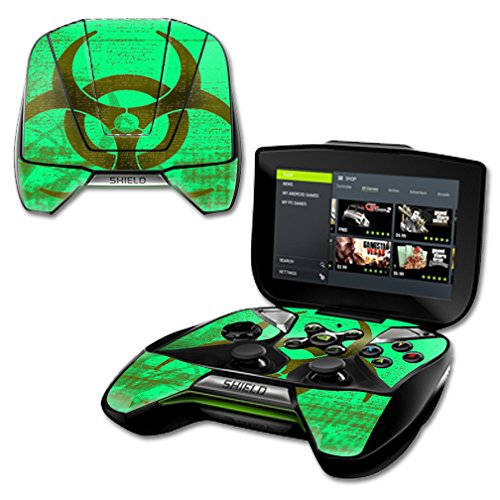 (MightySkins Protective Vinyl Skin Decal for NVIDIA Shield Portable Cover wrap Skins Sticker Biohazard )