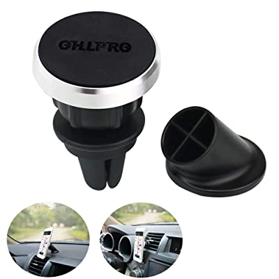 OHLPRO Magnetic Phone Holder for Car Air Vent,Universal Stick On Dashboard Magnet Car Phone Mount For iPhone,Samsung Galaxy,Google Nexus,LG,Huawei More Smartphone