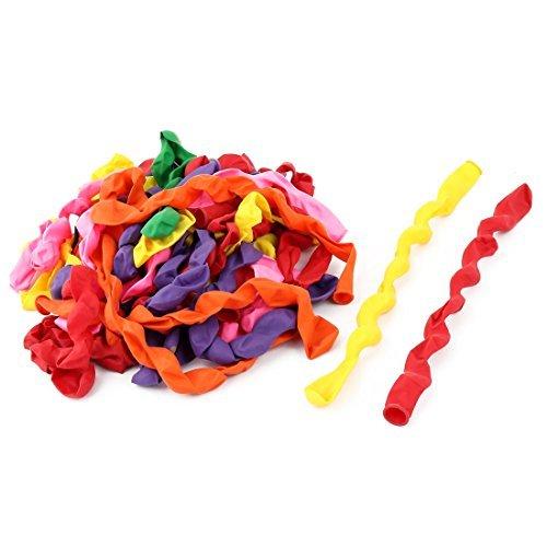 eDealMax Latex gonflable Longue spirale Ballons Party 40 Pcs Couleurs assorties