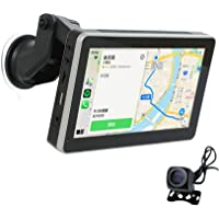 """Coral Vision Portable 7"""" LCD Touchscreen Monitor with Apple Wireless CarPlay Wired Android Auto Car Multimedia Player…"""