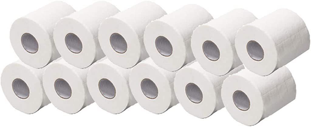 LILICAT Toilet Tissue Paper Rolls Quilted Kitchen Towel Roll Pack of 10 4Ply Super Absorbent Paper Kitchen Rolls