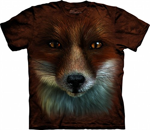Price comparison product image The Mountain Kids Big Face Fox T-Shirt,  Small,  Rust