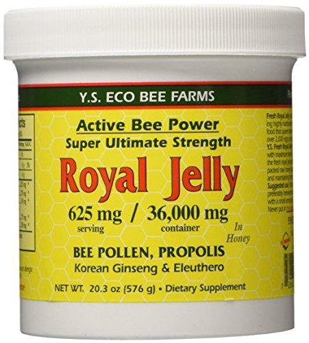 Fresh Royal Jelly + Bee Pollen, Propolis, Ginseng, Honey Mix - 36,000mg Y.S. Org 20.3 oz (Pack of 2)