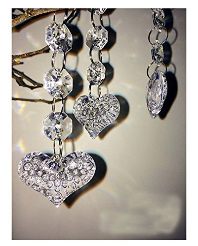 Heart Wedding Sampler (30PCS Heart Acrylic Crystal Beads Beads Garland Chandelier Hanging Wedding Party Decor)