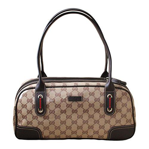 Gucci Crystal Princy Brown Boston Bag Handbag (Boston Monogram)