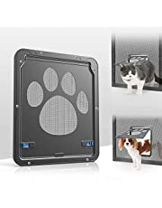 Namsan Pet Screen Door Inside Size 8x10 inches Sliding Screen Doggy Door with Magnetic Flap Cat Door Existing Screen Door, Lockable Cat Doggie Door