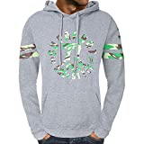 Mens Long Sleeve Blouses Clearance Men's Autumn Casual Hooded Sweatshirt Outwear Tops Blouse By WEUIE(XL, Gray)
