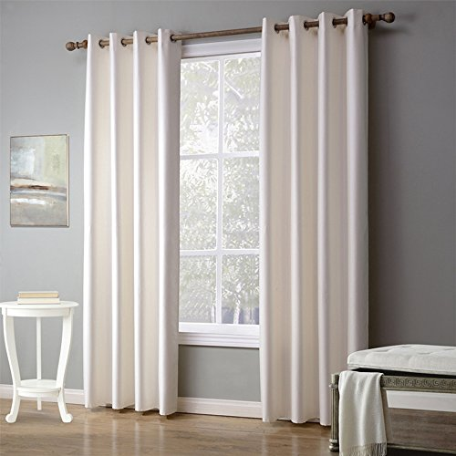 Bebling Thermal Insulated Grommet Blackout Curtains for Bedroom - Sold As Two Panels, Each Panel Measures 55