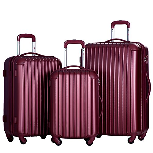 merax-travelhouse-3-piece-pc-abs-spinner-luggage-set-with-tsa-lock-wine-red