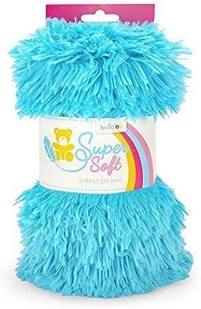 20/mm de pl/ástico, Minky, Amarillo, 9.5/x 8.5/x 21/cm kullaloo Super Soft Shaggy Pack de Peluche