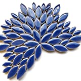 Craft Mosaic tiles - Petal Pack - 50g Glazed Ceramic - Delphinium