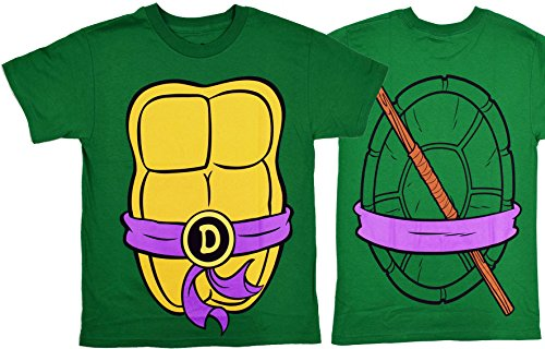 [Teenage Mutant Ninja Turtles Costume Mens T-shirt (Large, Donatello)] (Ninja Costume Man)