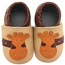 Sayoyo Adorable Giraffe Soft Sole Leather Baby Shoes Baby Moccasins